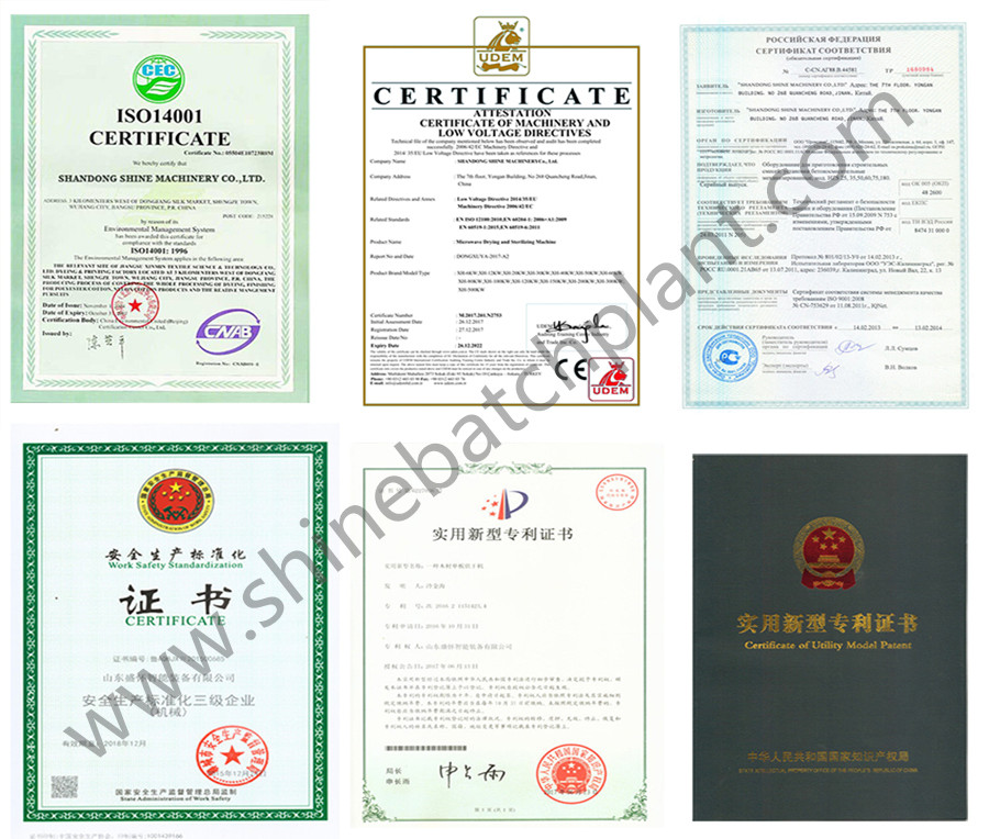 Mobile Plant Certificate