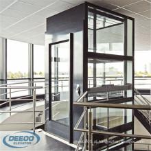 Elevador panorâmico elétrico interno de vidro da sala da máquina