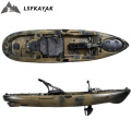 Factory NEW design 13ft pedal fishing kayak with wheels and pedal drive system with wheel