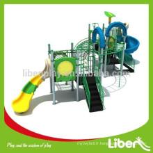 2015 Liben Play Plastic Outdoor Playground Structure avec diapositives, barres de singe et cadre d'escalade