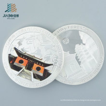 Moneda de recuerdo de encargo del regalo promocional de relleno del color de plata de alta calidad