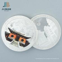 Cor de prata de alta qualidade enchimento presente promocional personalizado moeda de lembrança