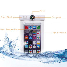 ABS+PVC Mobile Phone Diving Waterproof Bag with Compass Design