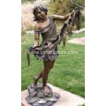 Garden Bronze Woman Dancer Statue