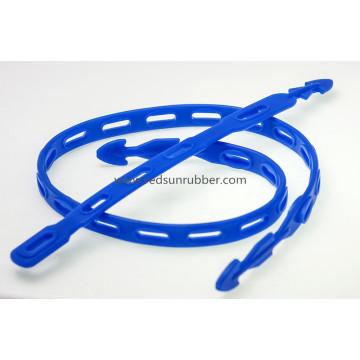 Correia de borracha de silicone ajustável flexível do carro