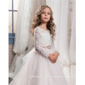 Alibaba Custom made Latest Children A Line Long Beauty Pageant Birthday Lace A Line Flower Girl Dresses for 2-12 years old LF43
