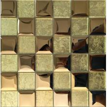 gouden 3D-effect marmer en kristalmozaïek