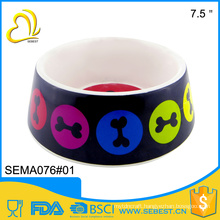 wholesale 7 inch round melamine pet bowl for dog
