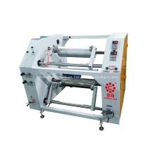 Máquina rebobinadora de corte longitudinal de película estirable