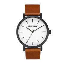 wholesale brown leather straps making machine quartz watch