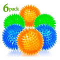 6 Pack Bright Colors TPR Puppy Toys