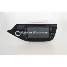 Fabrik direkt! Viererkabelkernauto-DVD-Spieler android für Auto, GPS / GLONASS, OBD, SWC, wifi / 3g / 4g, BT, Spiegelverbindung für 2014ceed