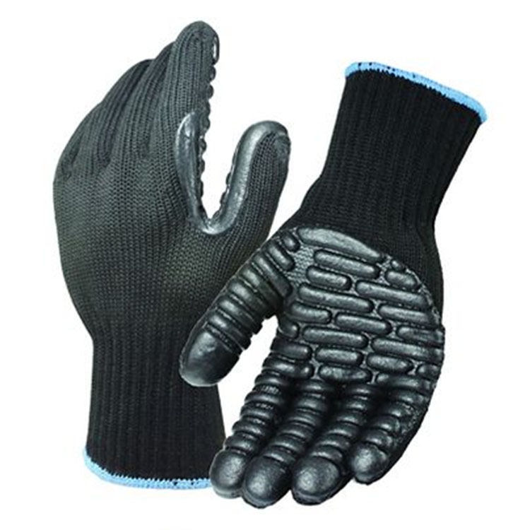 Microfiber Gel Palm Striped Gloves