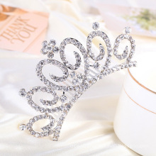 Elegant Crown Rhinestone Tiara Hair Comb for Wedding