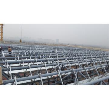 Estructura de armaduras de techo de acero