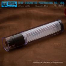 ZB-LQ40 40ml mince et grand hot-vente spéciale double couches tout beau plastique comme matériau bouteille claire airless