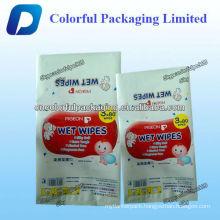 Customized aluminum foil baby wet wipes bag/Side gusset bag for baby wet wipes bag