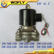 Edelstahl 1-1 / 2 Zoll 12v / 24v DC Wasser Magnetventil in China
