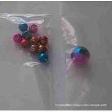 Iridescence Tungsten Slotted Beads with Hole
