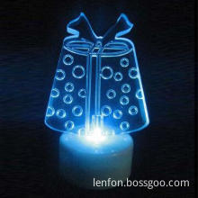 Light-up Colour LED Acrylic Gift for Christmas, Festive Decoration