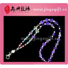 Forme a mujeres el llavero elegante del collar cristalino de las mujeres