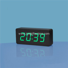 Promotional Logo Printed Rectangle Wooden Clock