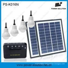 8W Systeme Solaire Familiale 4 LED Ampoule Bonne Vente En Africa