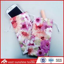 Bolso absorbente del teléfono móvil del poliester para la venta al por mayor, bolso del teléfono móvil, bolsos del teléfono de la impresión de la calidad