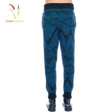 Pantalones de intarsia de punto de lana de invierno de los hombres