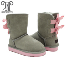Children's Little Girl Fashion Snow Boots Grey