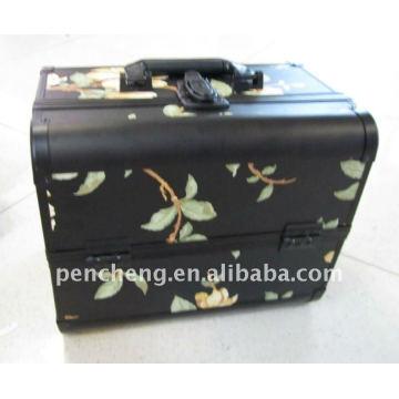 Перманентный макияж алюминиевых переносных чемоданов косметический сундук