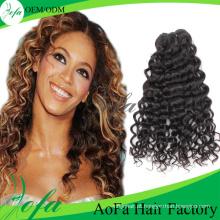 Extensão natural do cabelo humano do Virgin de 100% Remy do Cambodian da cor natural barata