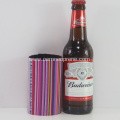Colorful Stripe Neoprene Beer Cooler Tube