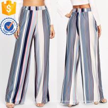 Barcode Stripe Wide Leg Pants Manufacture Wholesale Fashion Women Apparel (TA3083P)