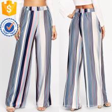 Barcode Stripe Wide Leg Pants Fabricação Atacado Moda Feminina Vestuário (TA3083P)