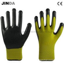 Nitrile Coated Zebra-Stripe Construction Safety Work Gloves (U203)