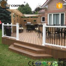 WPC pré-fabricado casas eco pavimento piso de borracha deck