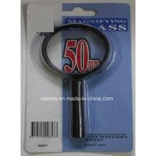 50mm Lupa barata con la lupa de plástico de la manija