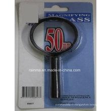 Loupe 50mm bon marché avec loupe en plastique