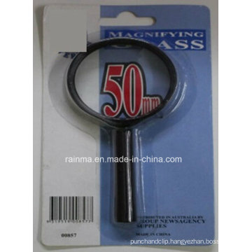 50mm Cheap Magnifying Glass with Plastic Handle Magnifier