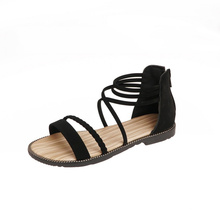Superstarer Ladies Summer Bohemian Style Flat Shoes Ankle Strap Toe Casual Sandals