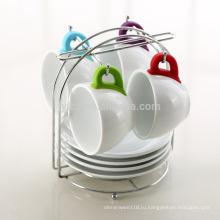Оптовая силиконовая ручка керамическая чашка блюдце комплект