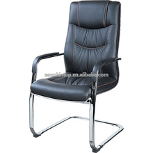 Chaise de bureau en métal et en cuir avec repose-pieds F633