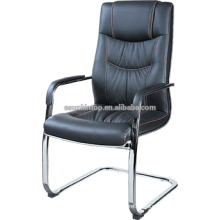 Metal and leather office chair with footrest F633