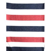 T / R / SP tela kntted con estampado de rayas francesas