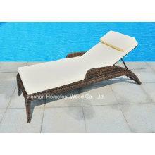 Outdoor Garden Patio Rattan Chaise Wicker Beach Lounge