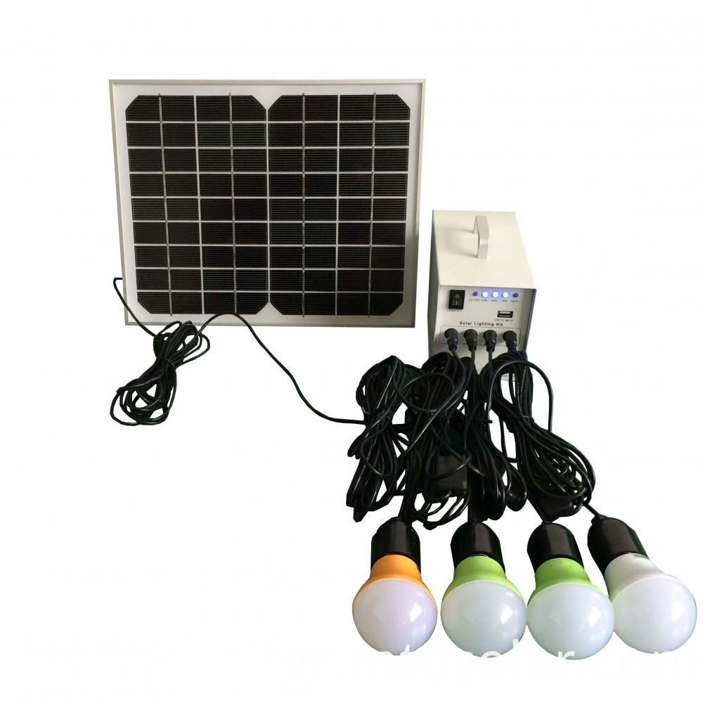 10w Solar indoor lighting kit