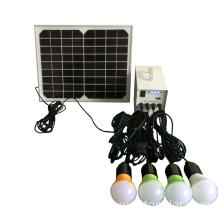 12v dc 10w solar power system with 4 pcs led lamps