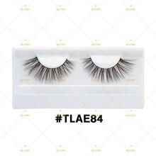 Lash Branding Eyelash Box For Naked 3D Silk Fiber Vegan Lashes With Clear Lash Band Customized Plastic Box TLAE