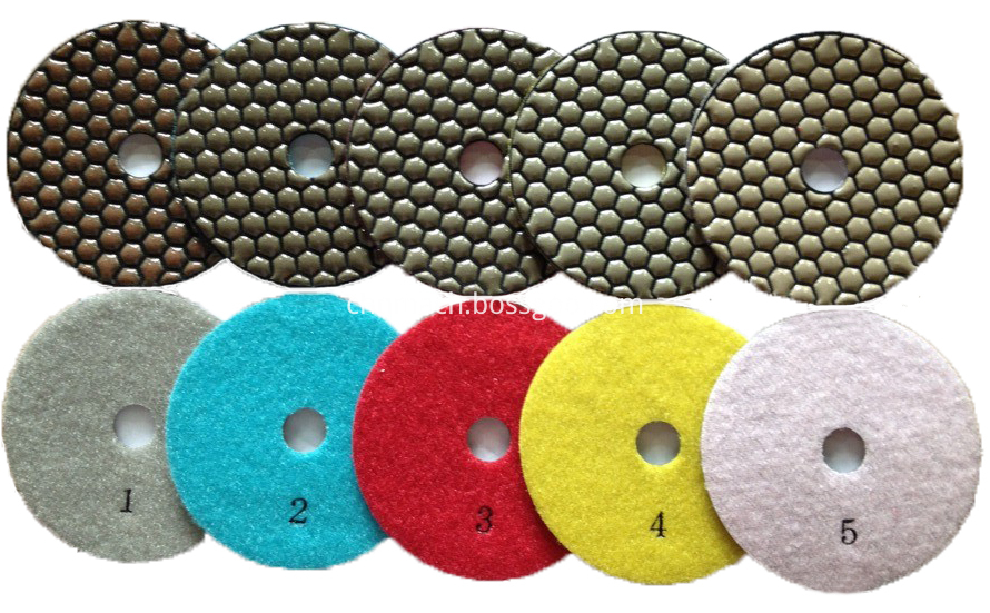 5 Steps Dry Polishing Pad